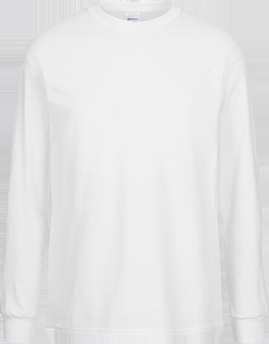 LONGSLEEVE (m) <br>  GILDAN Ultra Cotton weiß