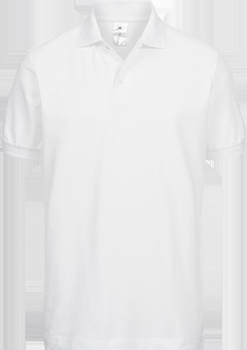 Poloshirt (m) <br> B&C Safran WEISS