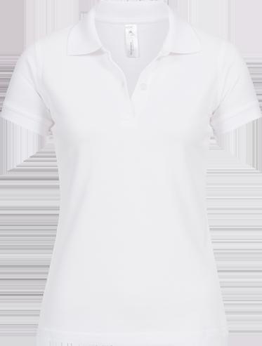 Poloshirt (w) <br> B&C Safran – WEISS